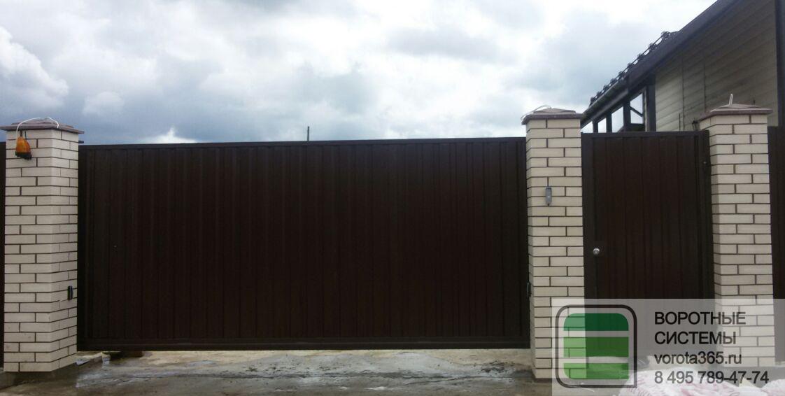 откатные ворота с установкой цены солнечногорск