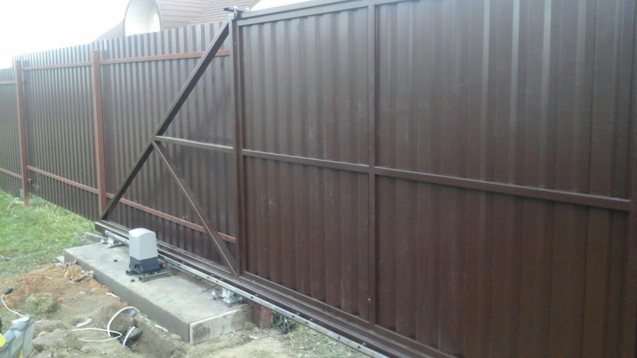 откатные ворота каширка